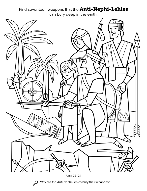 nephi coloring pages - photo#25