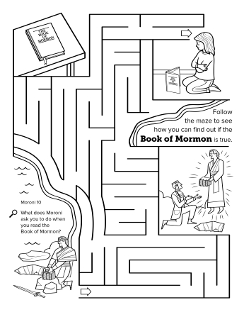 the golden plates: from moroni to joseph - Lds Primary Coloring Pages Prayer