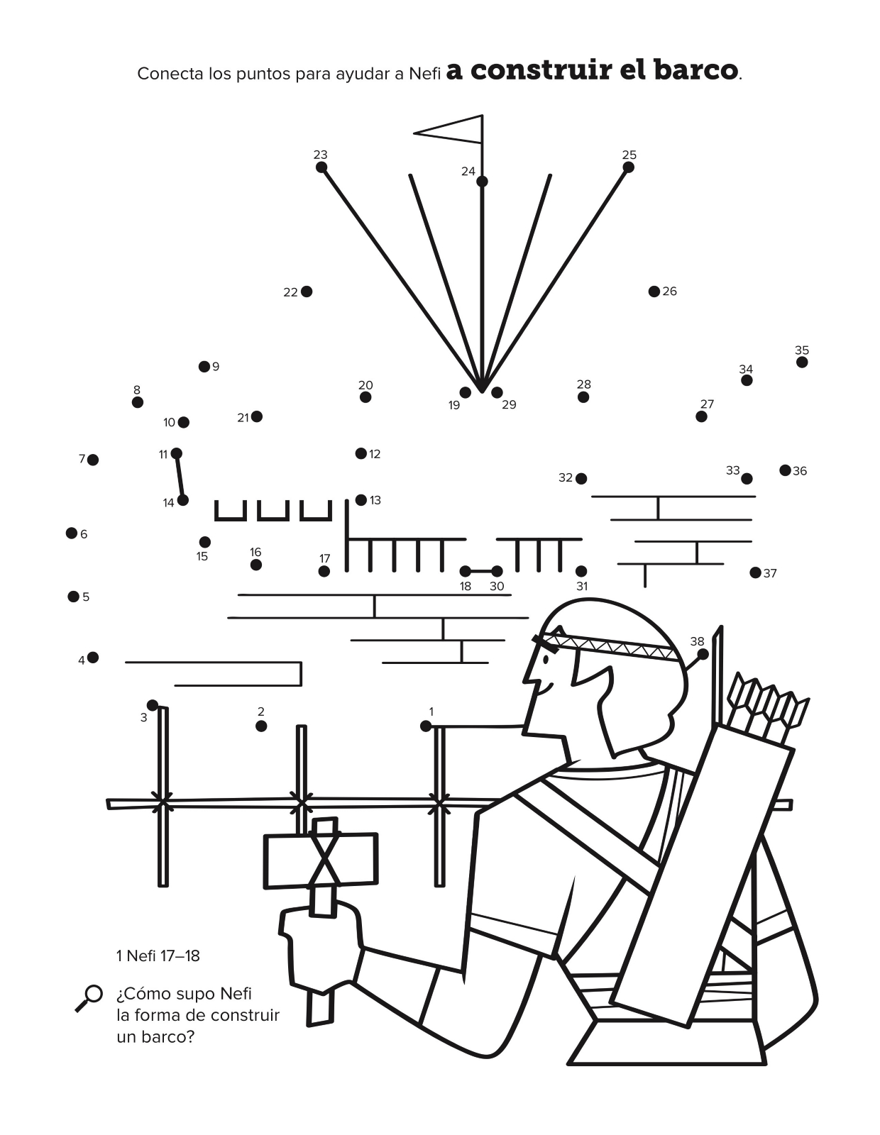 Nefi construye un barco