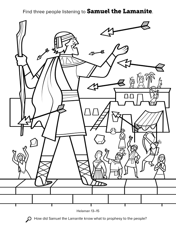 Book of mormon coloring pages ammon ~ Samuel the Lamanite