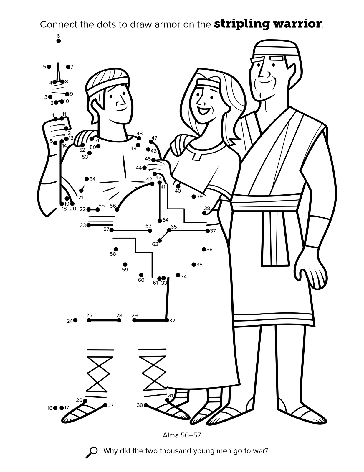 2000 stripling warriors coloring pages | Stripling Warrior