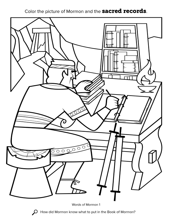 book of mormon coloring pages - photo#7