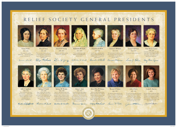 Relief Society General Presidents Poster
