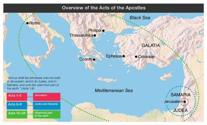 Overview of the Acts of the Apostles on
