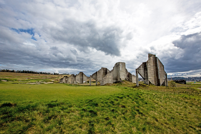 Architecture at a golf course on Chambers Bay in Washington State.