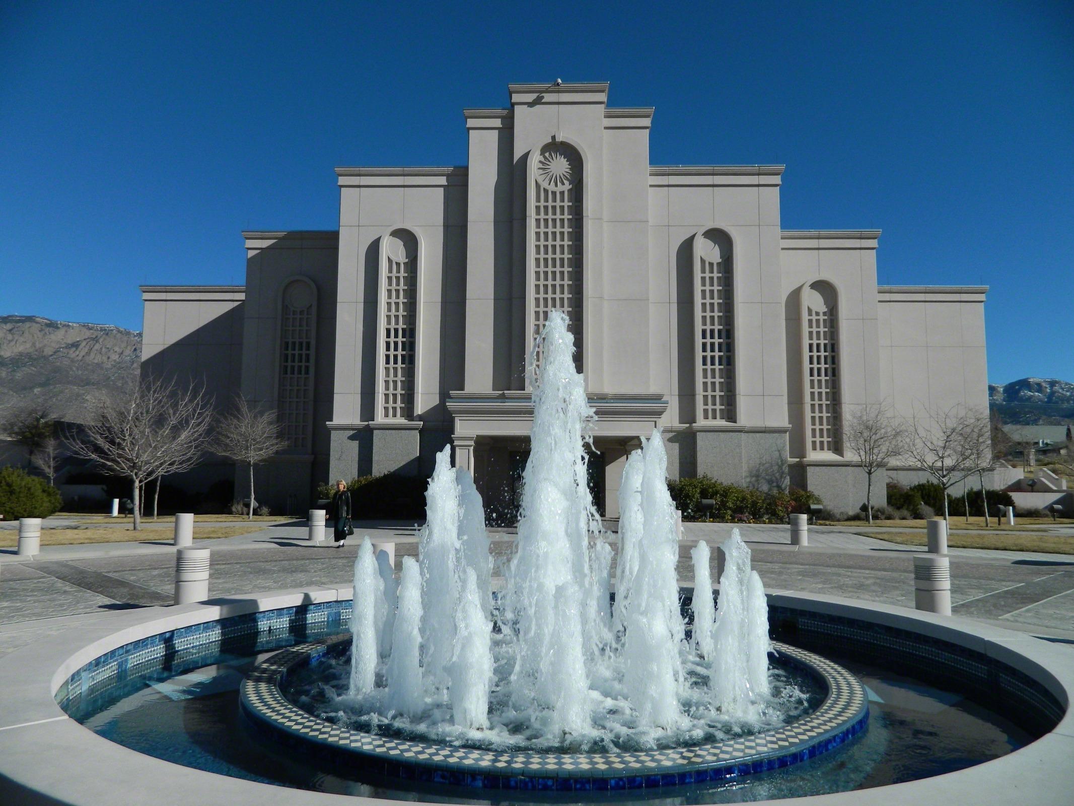 Albuquerque New Mexico Temple Fountain