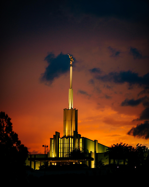 Atlanta Georgia Temple At Night