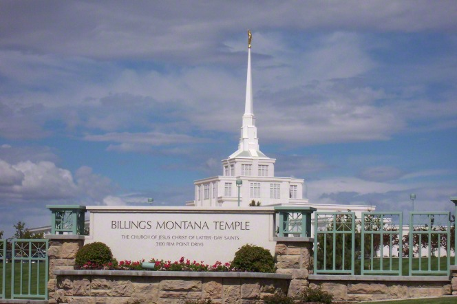 "The sign on the grounds of the Billings Montana Temple that says, ""Billings Montana Temple: The Church of Jesus Christ of Latter-day Saints."""
