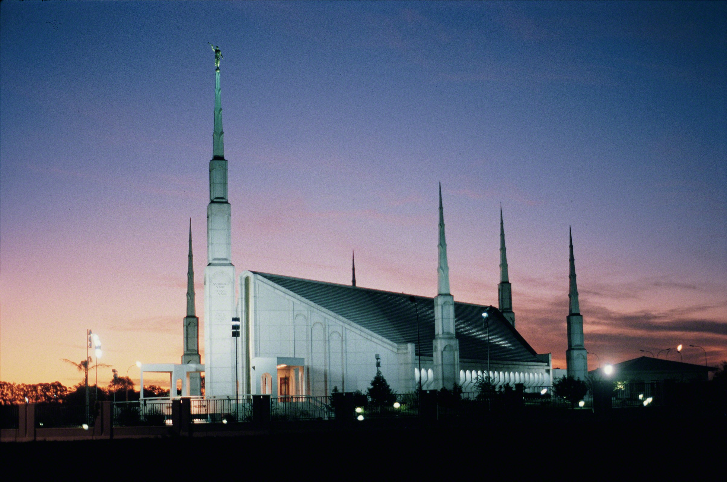 The Buenos Aires Argentina Temple At Night