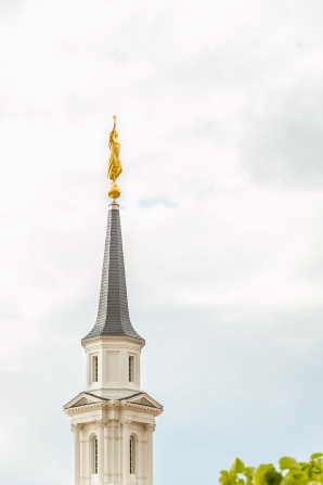 An image of the steeple on the Hartford Connecticut Temple.
