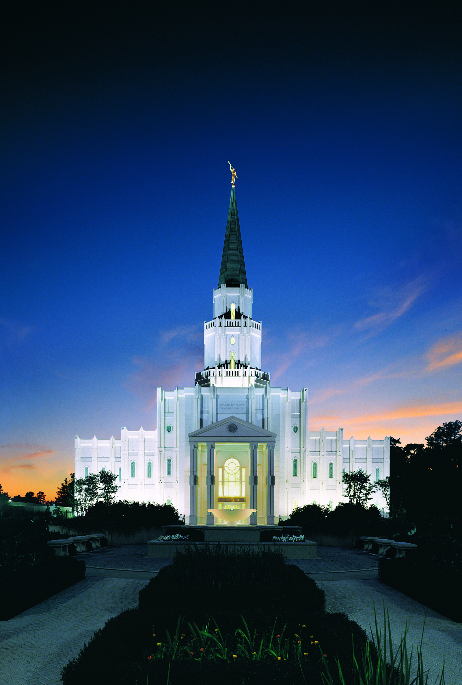 The houston texas temple at night - Lds temple wallpaper ...