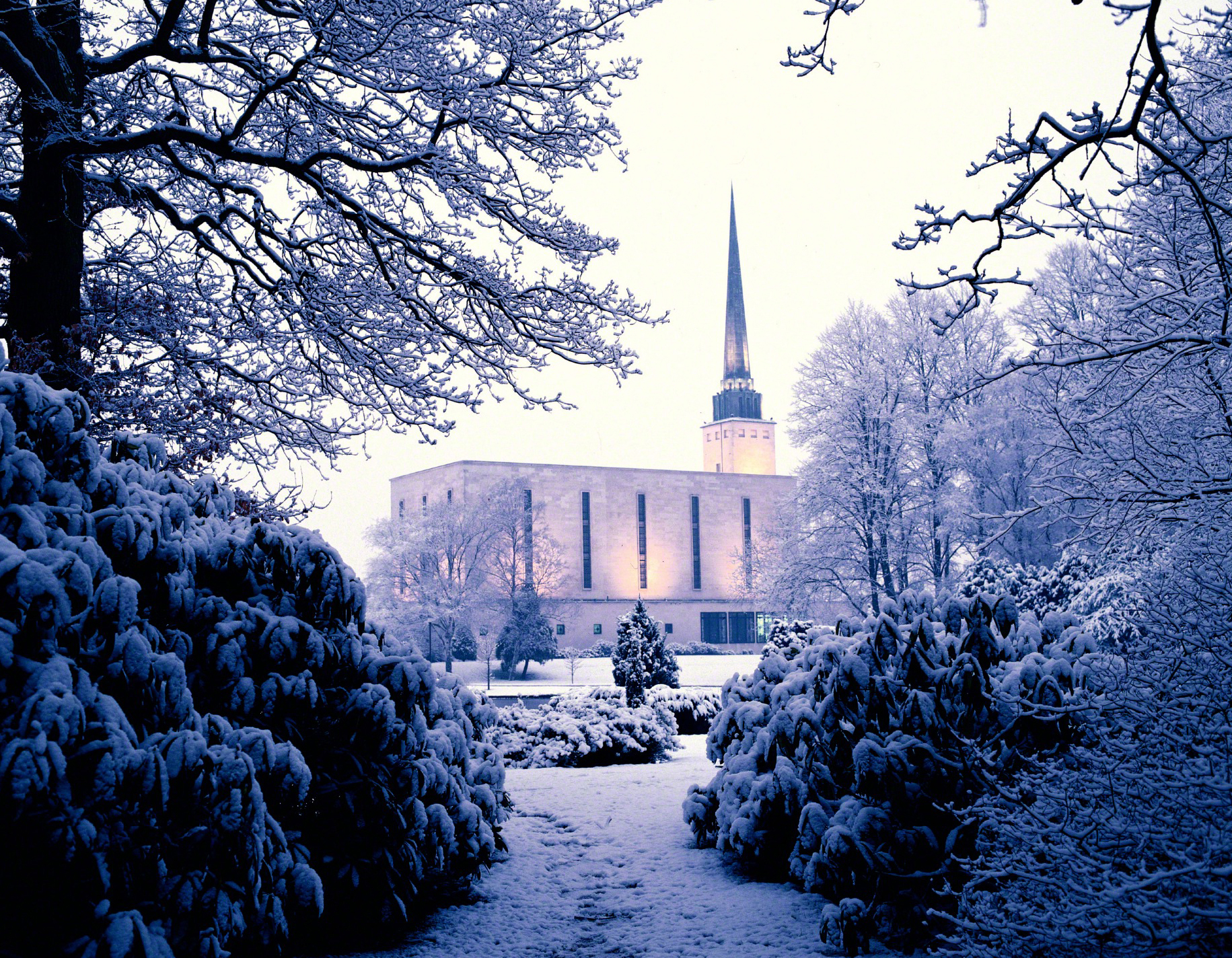 London england temple in the winter - Lds temple wallpaper ...