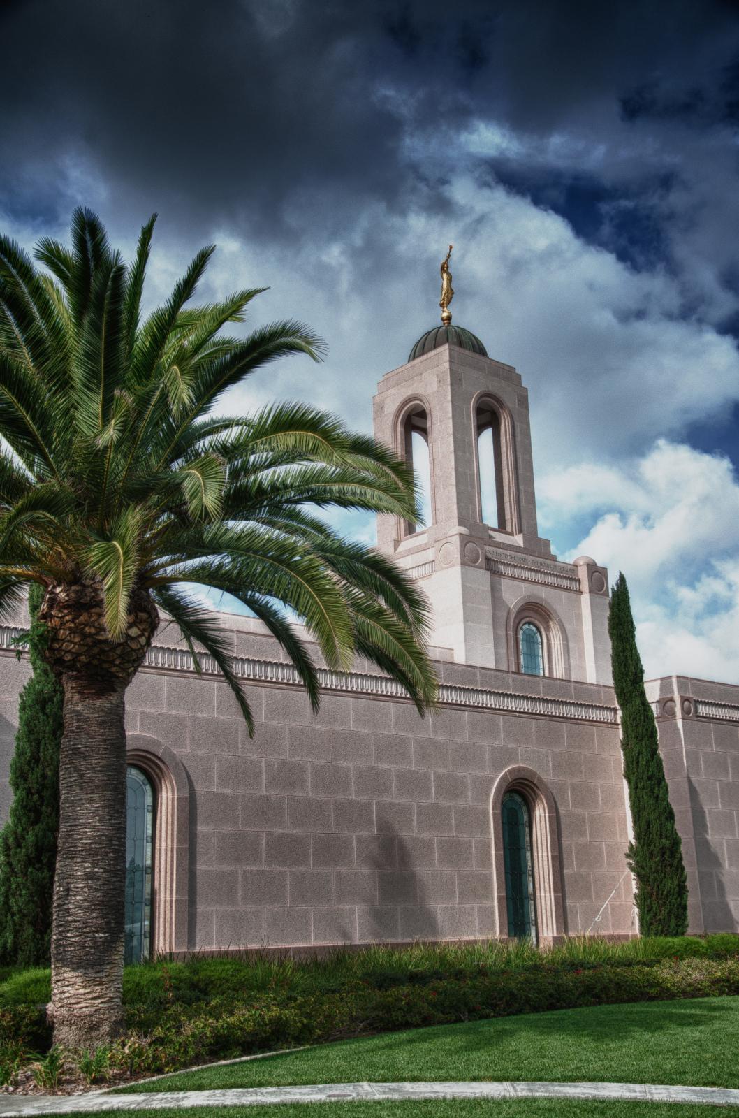 Newport Beach California Temple In A Storm