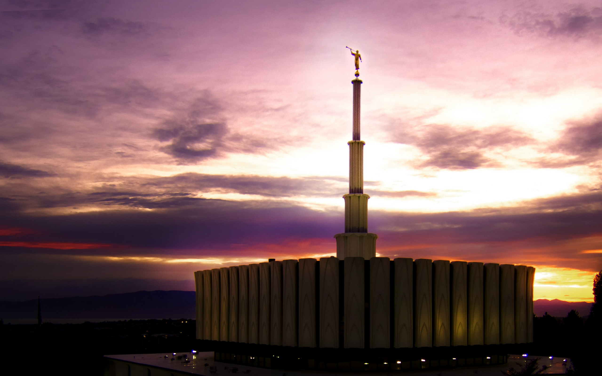 Provo utah temple at sunset - Lds temple wallpaper ...
