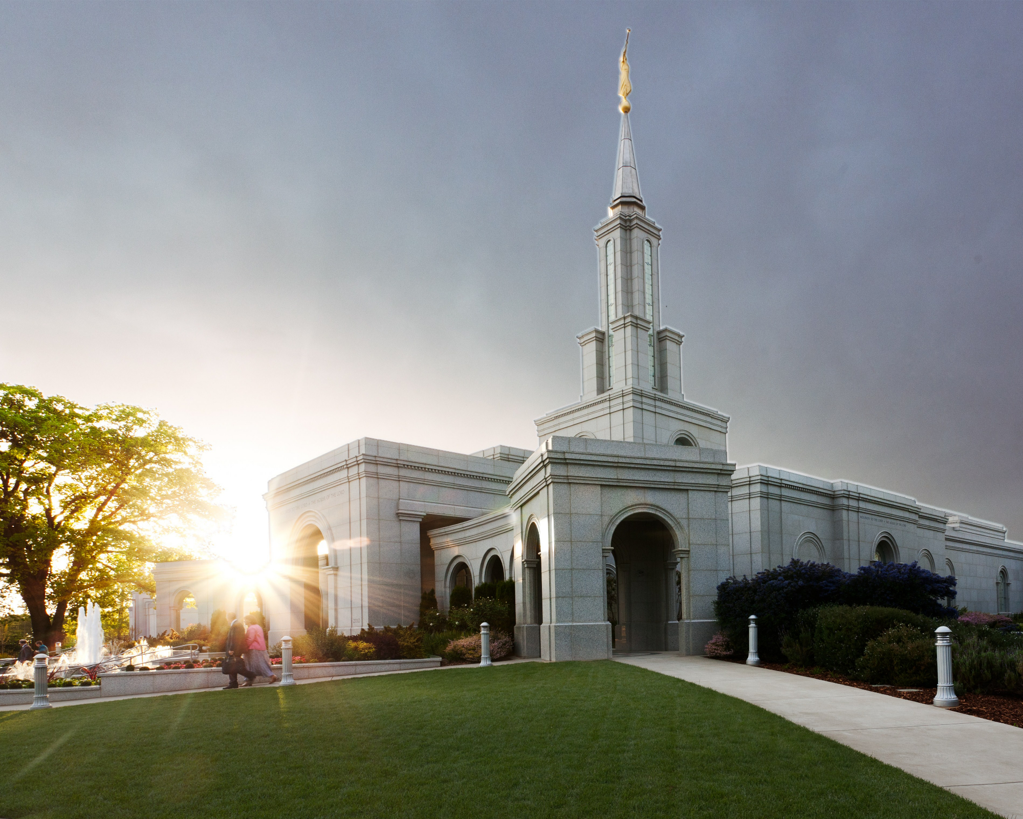Sacramento california temple at sunset - Lds temple wallpaper ...