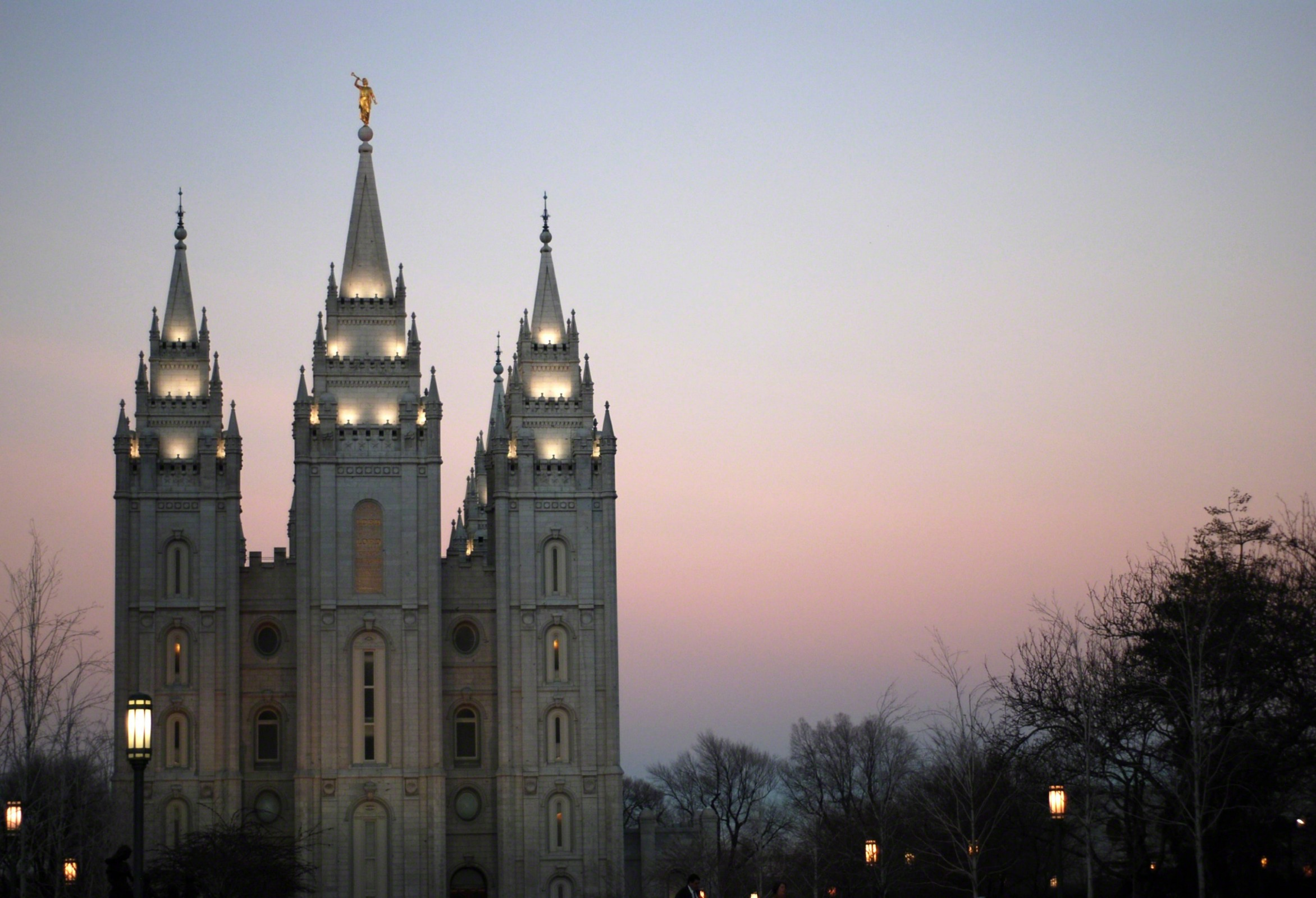 Salt lake temple in the evening - Lds temple wallpaper ...