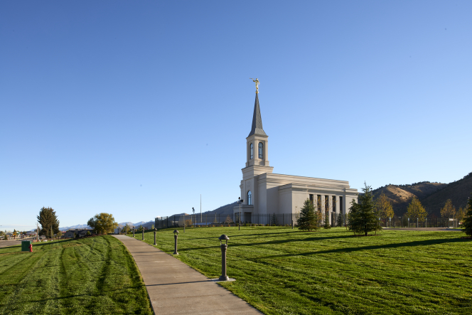 An image of the Star Valley Wyoming Temple.