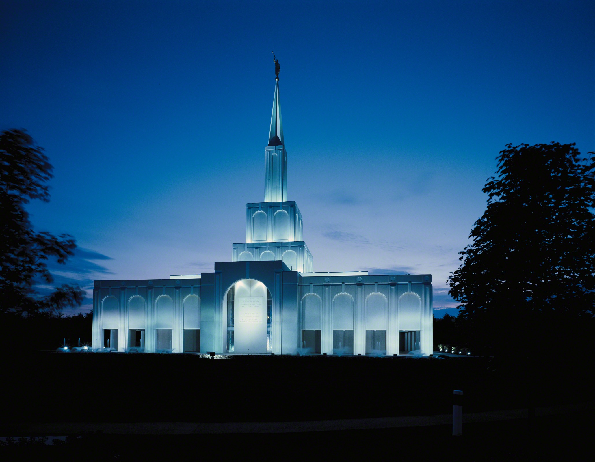 Toronto ontario temple in the evening - Lds temple wallpaper ...