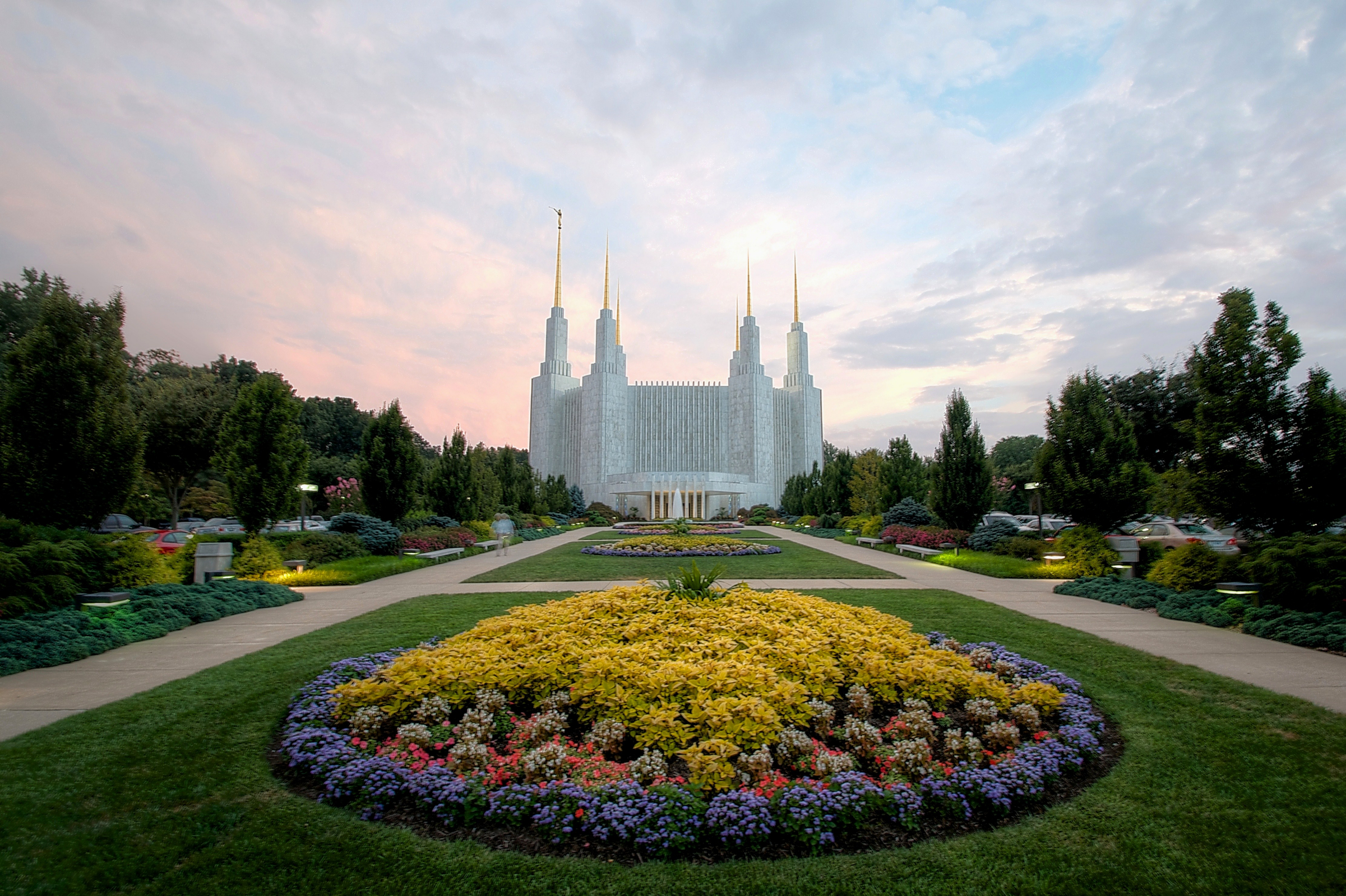 Washington d c temple entrance and scenery - Lds temple wallpaper ...