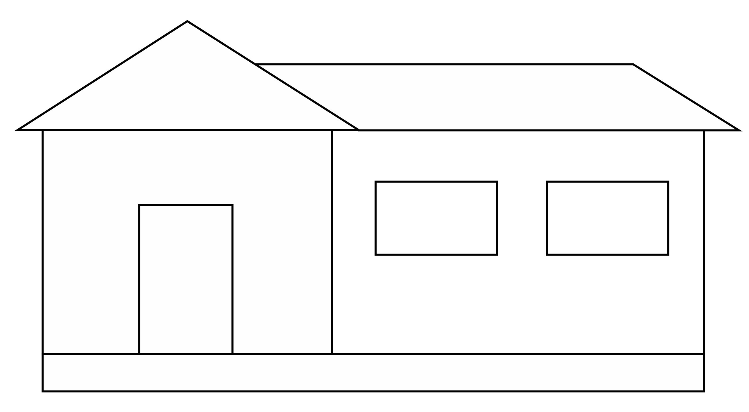 Line Art Images Of Houses : House on a foundation