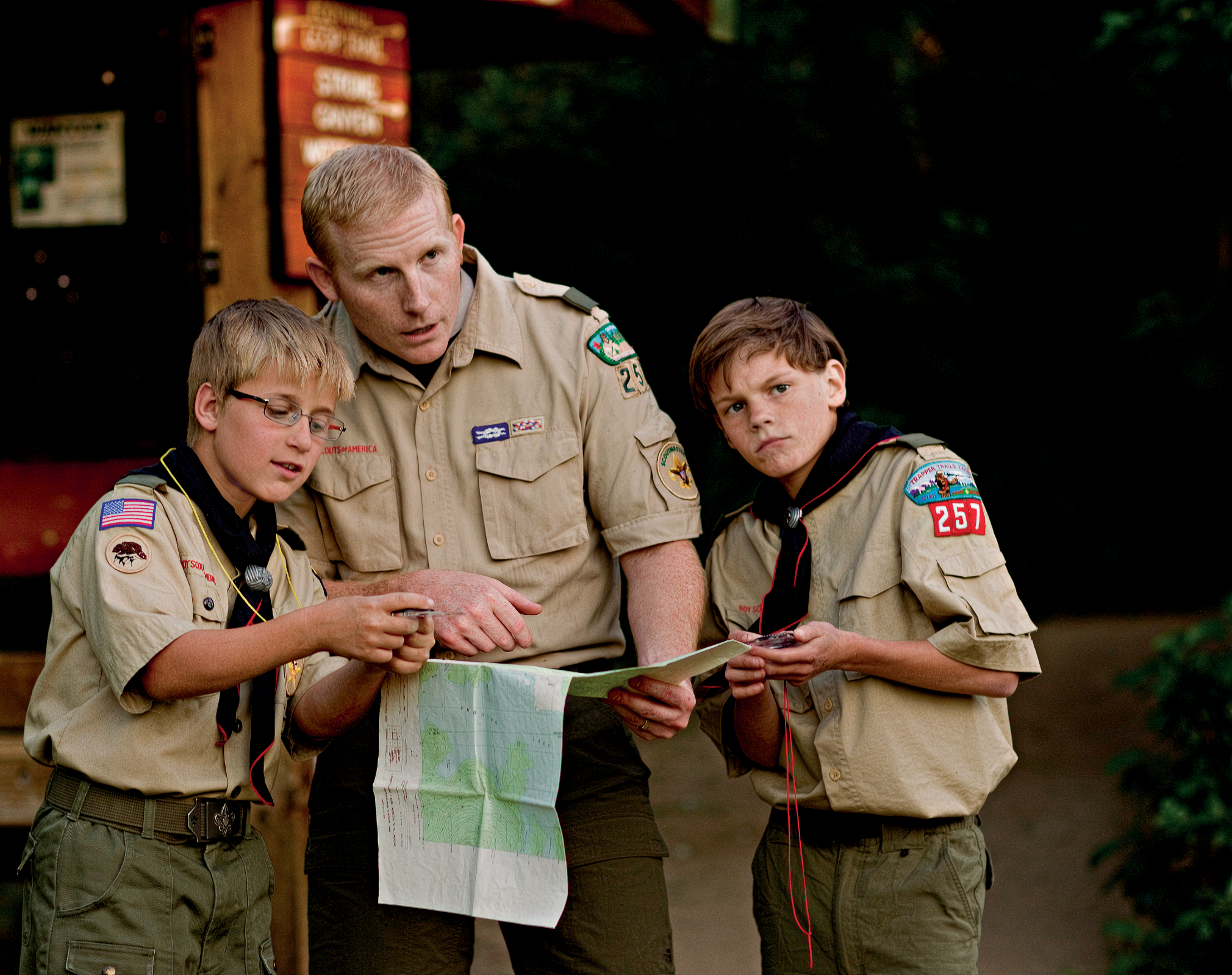 Image result for picture of boy scouts handing their leader a Map