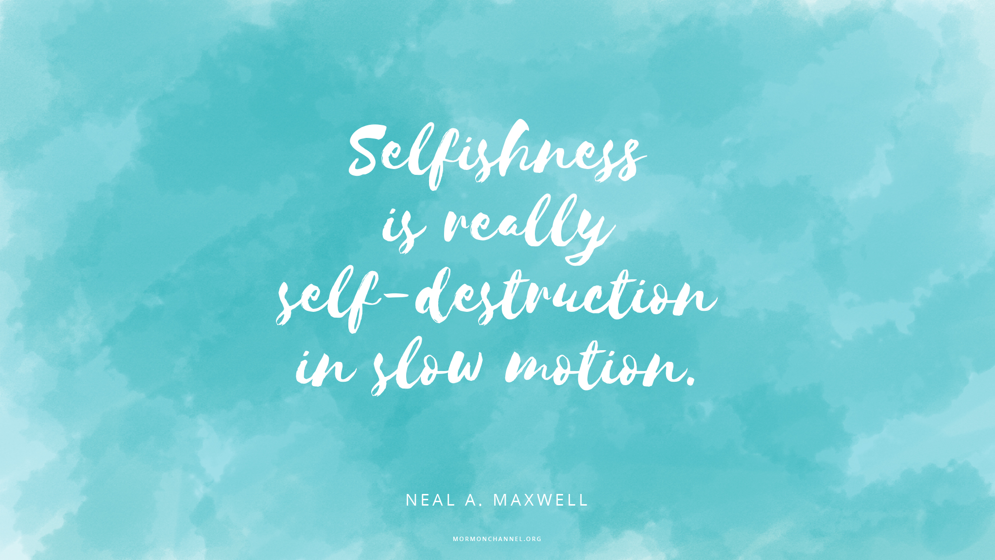 Daily Quote: Self-Destruction In Slow Motion