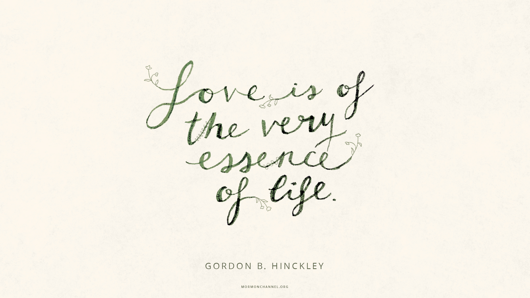 Daily Quote: Love Is the Essence of Life | Inspiration