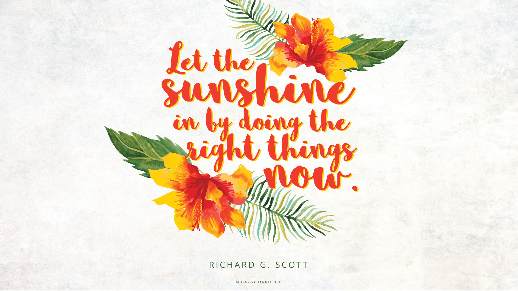 daily quote let the sunshine in mormon channel. Black Bedroom Furniture Sets. Home Design Ideas
