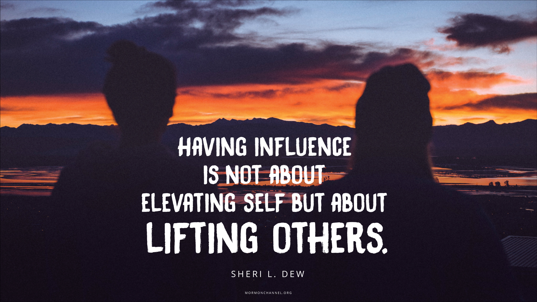 Lifting Quotes Daily Quote Influence Is About Lifting Others  Mormon Channel