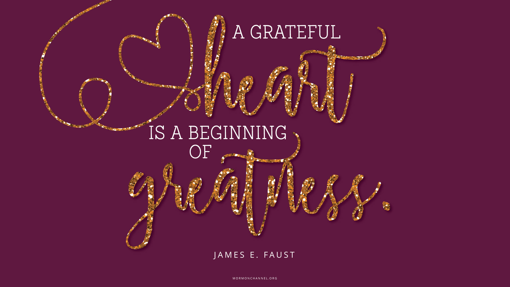 Quotes Gratitude Daily Quote Gratitude Is Greatness  Mormon Channel