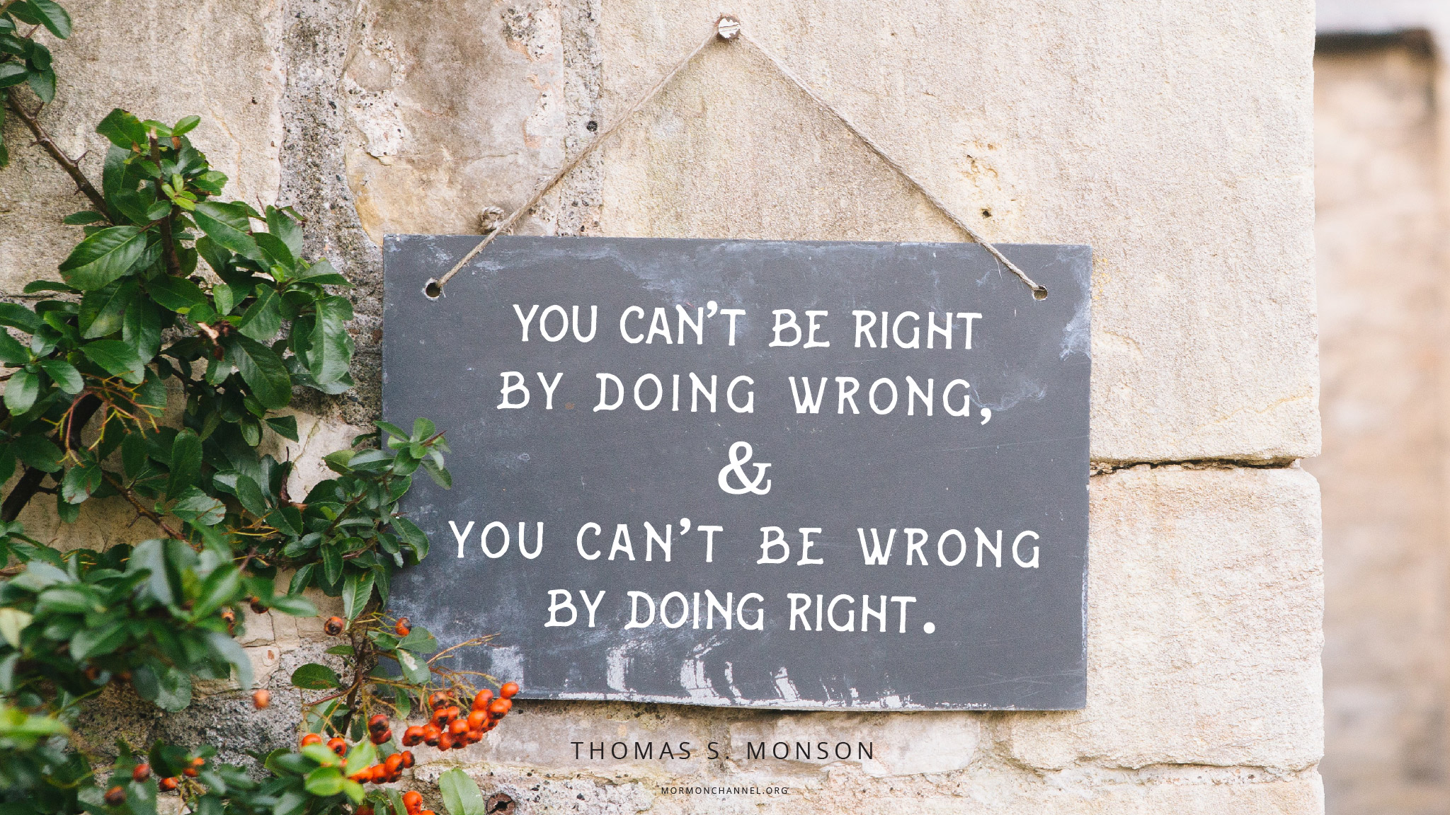 Daily Quote Right And Wrong Mormon Channel