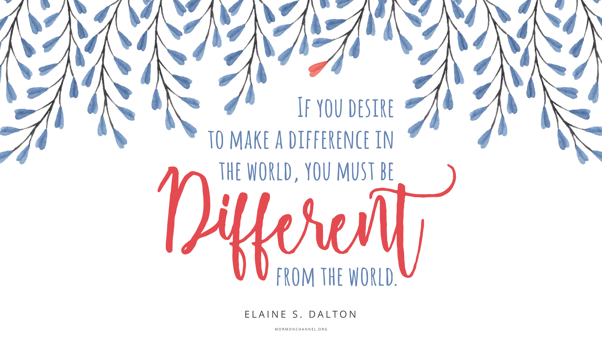 Daily Quote: To Make a Difference | Mormon Channel