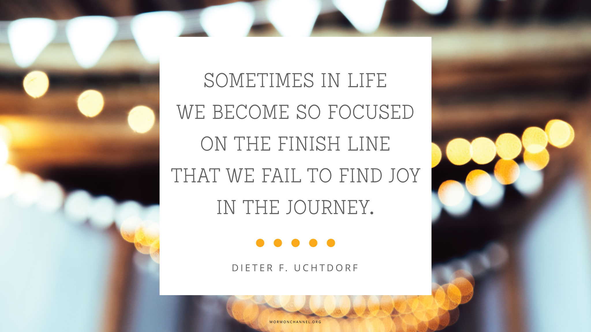 Daily Quote Joy In The Journey Mormon Channel