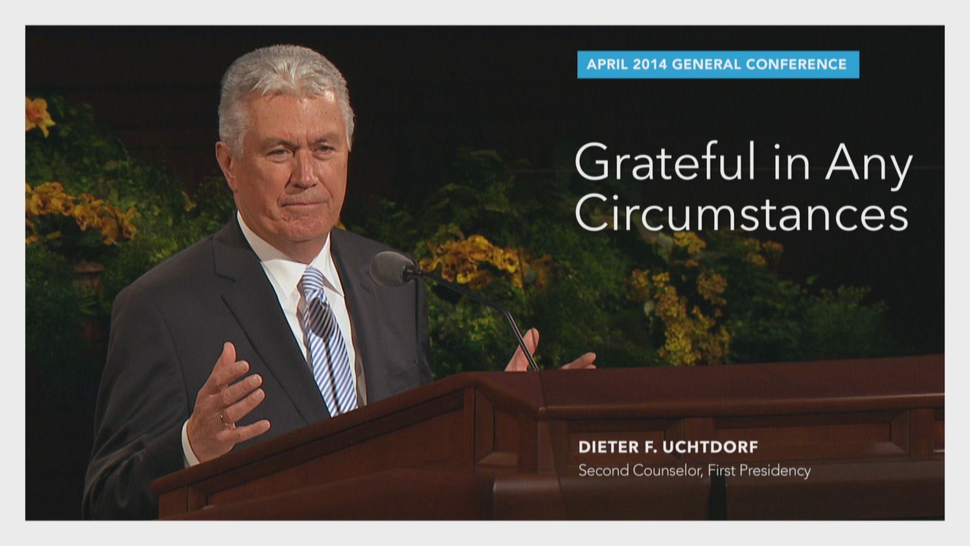 president uchtdorf general womens meeting 2014 General conference thoughts i hope you all had a chance to watch the general conference of the ever-so-popular two word sermon by president dieter f uchtdorf:.