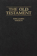The Old Testament King James Version book cover.