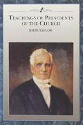Teachings of the Presidents of the Church John Taylor manual cover