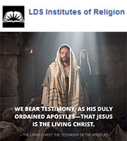 Prophets and apostles bear testimony of Him. What's your testimony of Jesus Christ? #InstituteIsForMe
