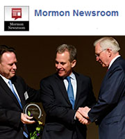 Mormon Apostle, Elder D Todd Christofferson joined other business professionals to present an award to New York State Attorney General Eric Schneiderman.