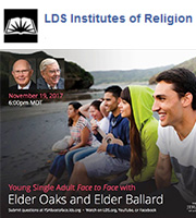 The next Face to Face will be for young adults! Elder Oaks and Elder Ballard will be answering questions on November 19.