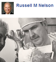 """When I was a young medical student, my rigorous study of the human body convinced me that God lived.""—Russell M. Nelson"