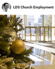 During the month of December, high school choirs sing daily in the lobby of the Church Office Building and the Joseph Smith Building. This decades-old tradition brings the Christmas spirit into our work environment.