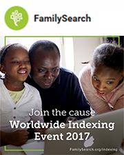 Invite your family and friends to help people discover their ancestors by joining the upcoming Worldwide Indexing Event 2017.