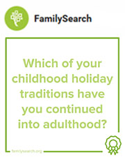 Which of your childhood holiday traditions have you continued into adulthood? Use #52Stories to help record your personal history: http://bit.ly/2B17223