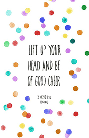 Lift up your head and be of good cheer. —3 Nephi 1:13