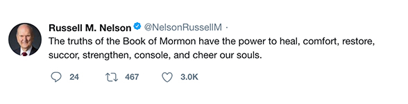 The truths of the Book of Mormon have the power to heal, comfort, restore, succor, strengthen, console, and cheer our souls.