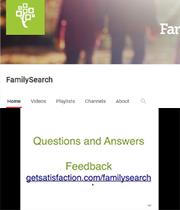 FamilySearch - Finding Elusive Records Questions and Answers Feedback